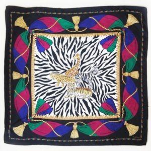Vintage 80's Diane Von Furstenberg 100% Silk Scarf